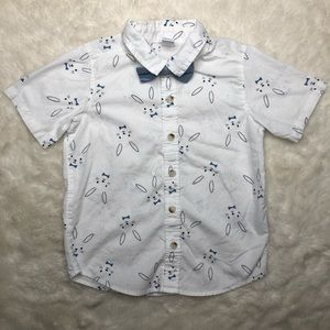 Old Navy Collared Button Up Easter Shirt Size 4T